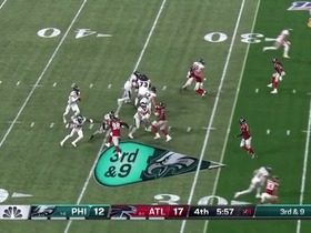Watch: Can't-Miss Play: Wentz makes unbelievable throw to Hollins as he's tackled