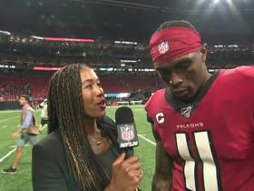 Watch: Julio Jones reacts to game-winning TD: 'I can't let nobody run me down'