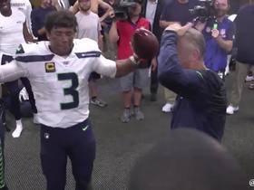 Watch: Seahawks locker room celebration for Pete Carroll's birthday