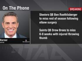 Watch: Warner: Nature of Brees' injury is something to 'worry' about