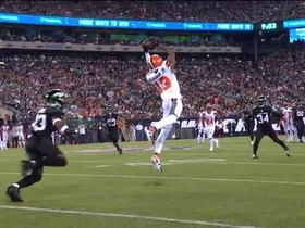 Watch: OBJ goes AIRBORNE for contested 21-yard grab