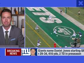 Watch: Casserly: Why Giants naming Jones as starter 'isn't a surprise'