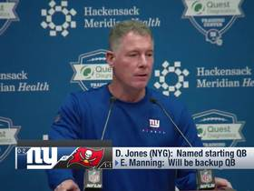 Watch: Pat Shurmur: It was the 'right time' to name Daniel Jones as starter