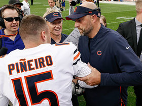 Watch: Mic'd Up: Nagy, Bears celebrate walk-off thriller | Week 2
