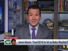Watch: Rapoport: Jamal Adams upset about $21K fine for hit on Mayfield