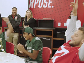 Watch: 49ers rookies host mentorship program with local high school players