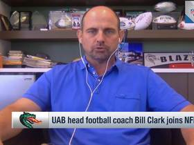 Watch: UAB football coach Bill Clark discusses Blazers alums in NFL