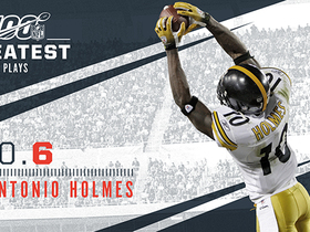 Watch: 'NFL 100 Greatest' No. 6: Santonio Holmes' toe-tap TD in SBXLIII
