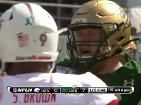 Watch: Spencer Browns gets UAB's second TD for early lead