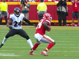 Watch: Watkins shows incredible concentration to haul in tipped pass for huge 36-yard pickup