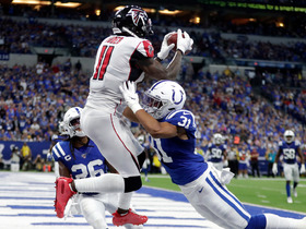 Watch: Can't-Miss Play: Julio goes up and over TWO defenders for major TD