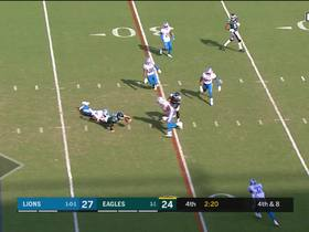Watch: Lions' defense stops Carson Wentz short on fourth-down scramble