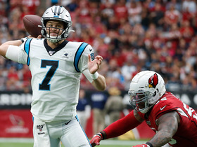 Watch: Kyle Allen rolls out to find Curtis Samuel for early TD