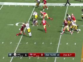 Watch: Minkah Fitzpatrick forces SECOND turnover for Steelers with big hit on Mostert