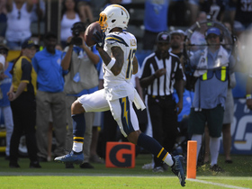 Watch: Keenan Allen trots in for second TD after juking Justin Reid to the turf