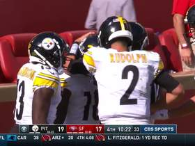 Watch: Diontae Johnson's first NFL TD is 39-yard strike from Mason Rudolph