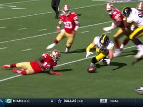 Watch: T.J. Watt falls on 49ers' mishandled snap for FIFTH turnover of game