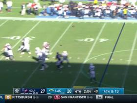 Watch: Rivers delivers fourth-down strike to Allen under heavy pressure from J.J. Watt