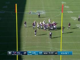 Watch: Ty Long makes 43-yard FG to bring Chargers within a touchdown