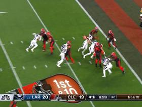 Watch: Aaron Donald forklifts by Joel Bitonio to get his first sack of 2019