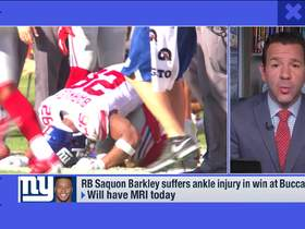 Watch: Rapoport: Saquon likely out for the 'foreseeable future' with high ankle sprain