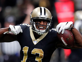 Watch: Michael Thomas fights through TWO tackles for his second TD of the day