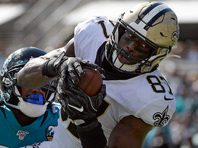 Watch: Jared Cook corrals Teddy B's top-shelf throw first TD of the game