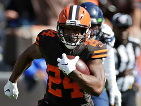 Watch: Nick Chubb burrows in for TD to give Browns fourth-quarter lead