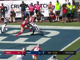 Watch: Jimmy G floats ill-advised red-zone INT to Marcus Peters
