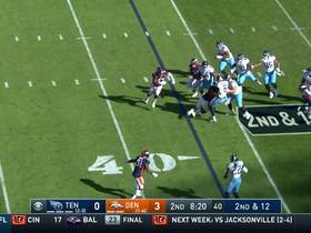 Watch: Broncos LB hilariously hops on pile to finalize sack of Mariota
