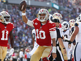 Watch: Jimmy G sneaks in for second career rushing TD
