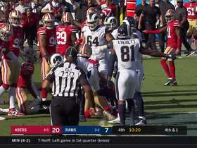 Watch: Robert Saleh is HYPED after 49ers stuff Rams for another fourth-down stop