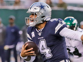 Watch: Prescott ties Staubach's record for rushing TDs by Cowboys QB on powerful draw play