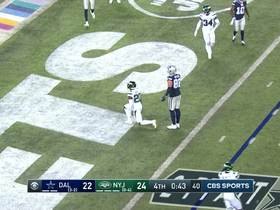 Watch: Jets' blitz gets to Prescott to stop 'Boys on two-point try