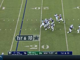 Watch: Dak Prescott's hurdle attempt doesn't go as planned