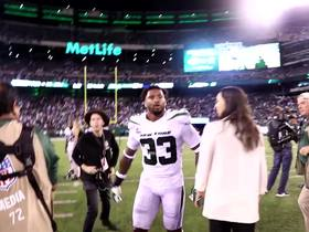 Watch: Jamal Adams and Byron Jones hug it out after game