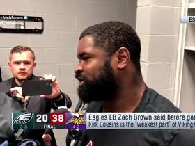 Watch: Eagles LB unhappy with questions about Cousins after loss