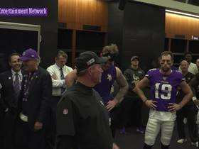 Watch: Mike Zimmer congratulates his team after big win over the Eagles