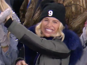 Watch: Stafford's wife rejoices after 58-yard BOMB to Marvin Hall