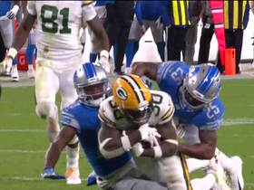 Watch: Jamaal Williams weaves between defenders on powerful 45-yard run