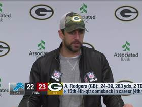 Watch: Rodgers reacts to Mason Crosby's big Week 6 moment
