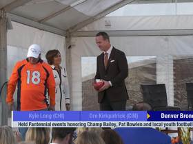Watch: Broncos hold Fantennial events honoring Champ Bailey, Pat Bowlen