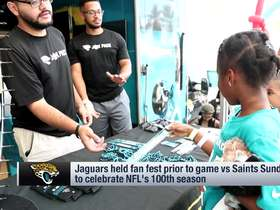 Watch: Jaguars hold fan fest to celebrate NFL's 100th season