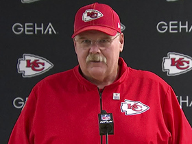 Watch: Andy Reid reacts to Patrick Mahomes' knee injury