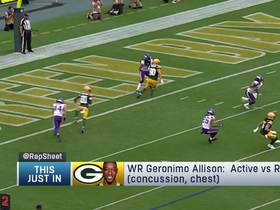 Watch: The active and inactive players for Week 7