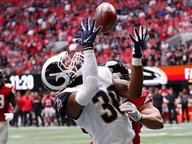 Watch: Can't-Miss Play: Gurley beats Beasley for mesmerizing over-the-shoulder TD grab