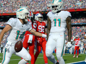 Watch: DeVante Parker trucks Bills DB for 12-yard TD catch and run