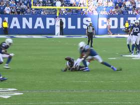 Watch: Can't-Miss Play: Darius Leonard submits INT of the year bid to seal Colts win