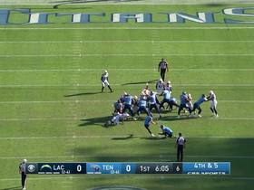 Watch: Cody Parkey drills 45-yard field goal to put Titans on board first
