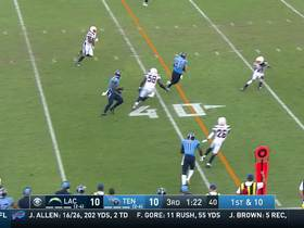 Watch: Tannehill throws strike to Anthony Firkser for 27 yards